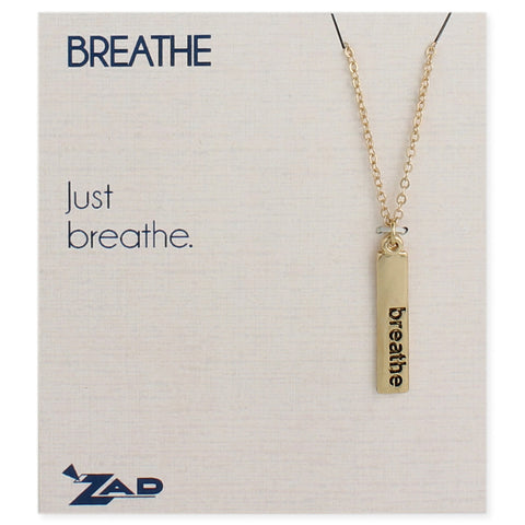 Breathe Word Bar Necklace - Anonymous L.A.