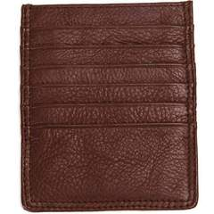 Tall Leather 2 Sided Card Case