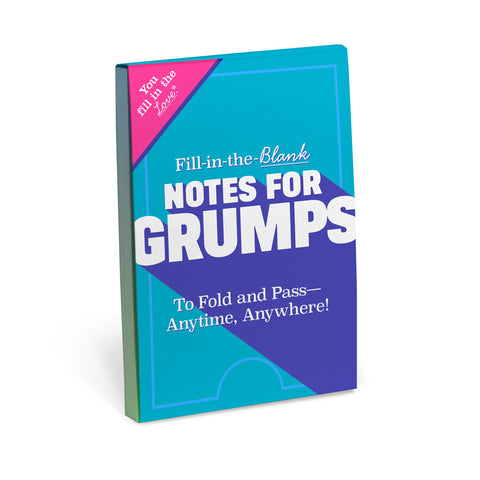 Fill in the blank Notes for Grumps ® Journal