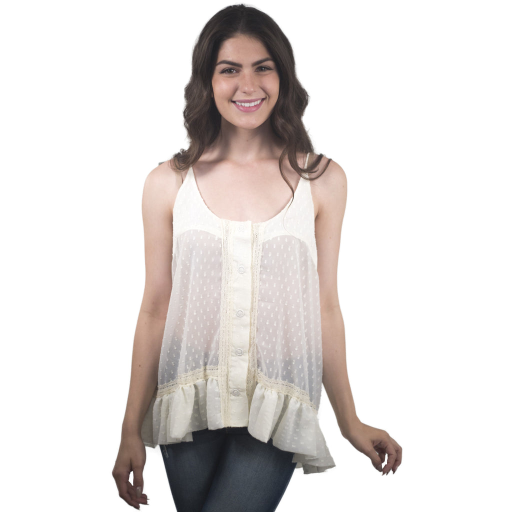 Lace Blouse With White Studded Back - Anonymous L.A. - 1