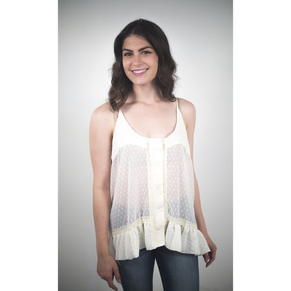 Lace Blouse With White Studded Back - Anonymous L.A. - 3