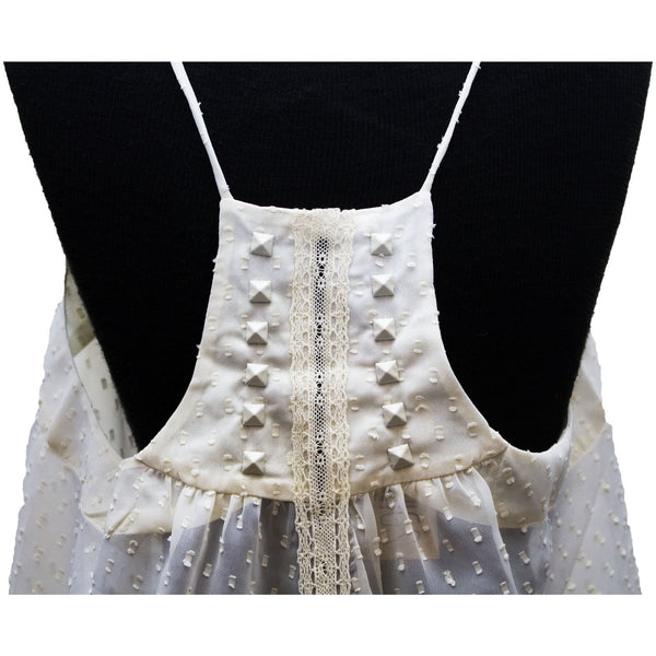 Lace Blouse With White Studded Back - Anonymous L.A. - 5