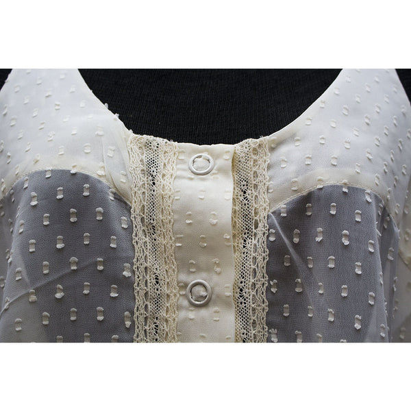 Lace Blouse With White Studded Back - Anonymous L.A. - 6