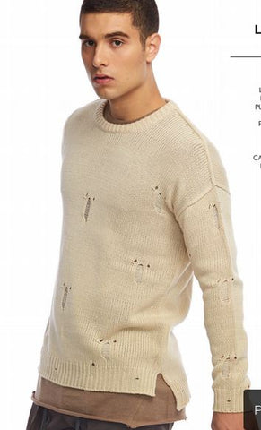 Lashes Sweater With Distressing
