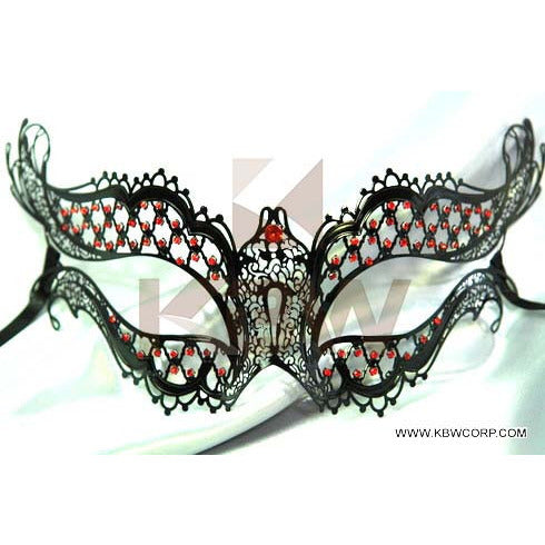 Lazer Cut Metal Venetian Mask With Diamonds