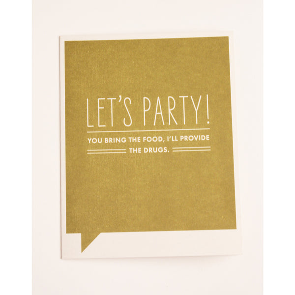 Let's Party | Funny Card - Anonymous L.A. - 1
