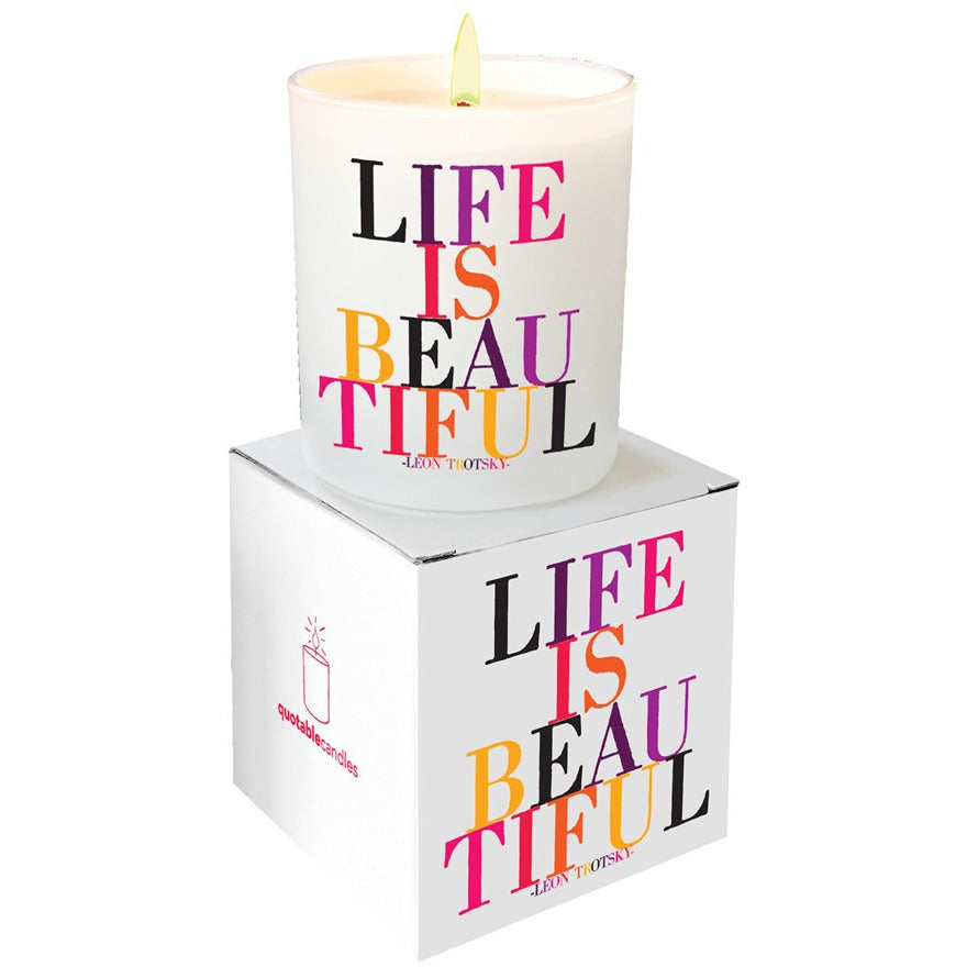 Life Is Beautiful Candle - Anonymous L.A.