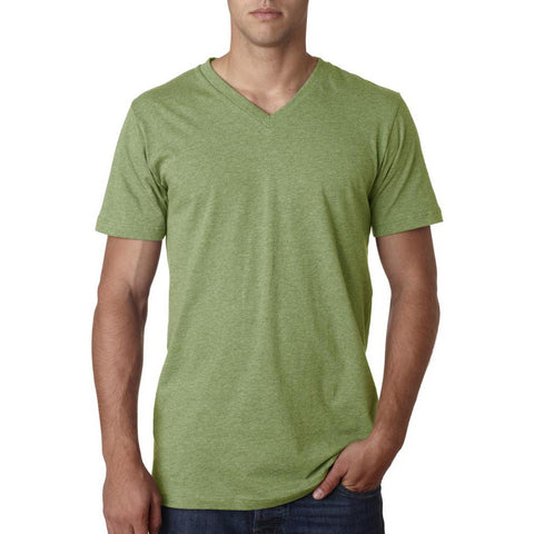 Light Green Heather Jersey V-Neck - Anonymous L.A.