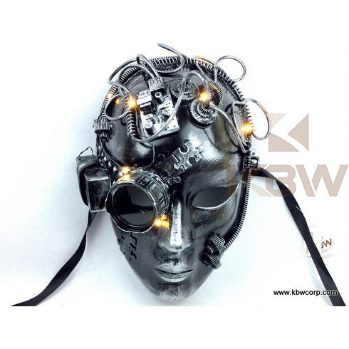 Steampunk Full Face Mask W/Lights