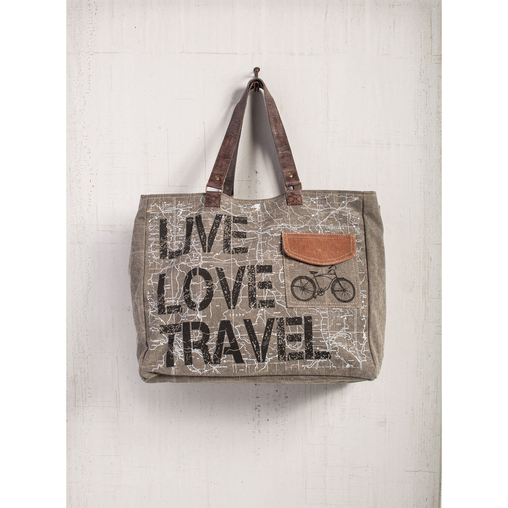 LIVE LOVE TRAVEL WEEKENDER BAG - Anonymous L.A.