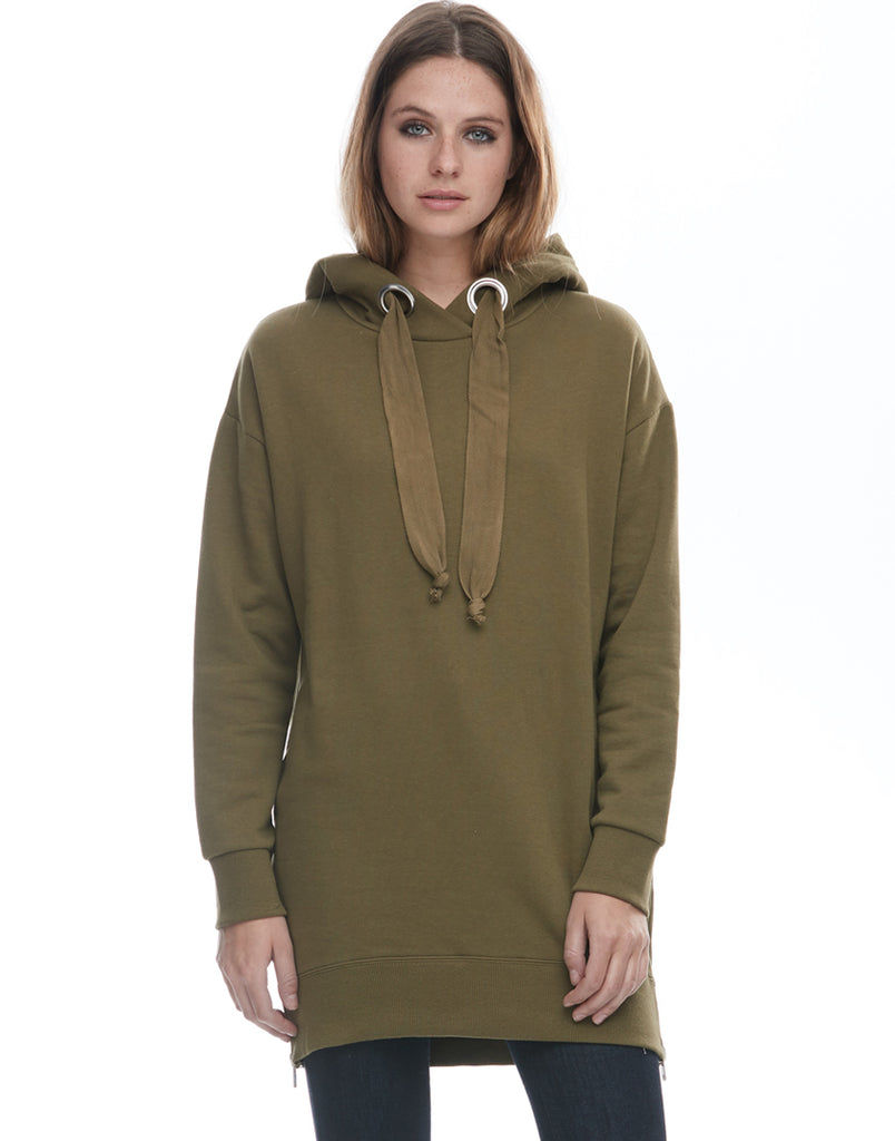 Big Eyelet Hooded Sweatshirt