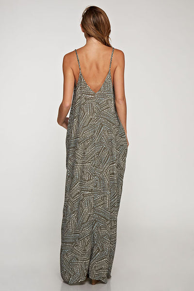 Printed Cocoon Maxi Dress