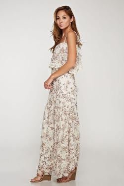 Printed Lace Maxi Dress