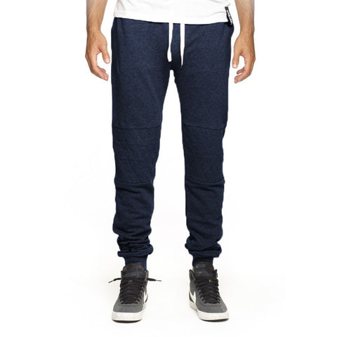 Lucky 7 Navy Blue Drop Crotch Sweatpants - Anonymous L.A.