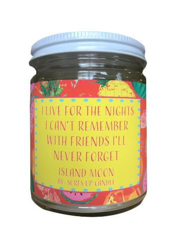 Friends Surf Wit Jar Candle- Island Moon