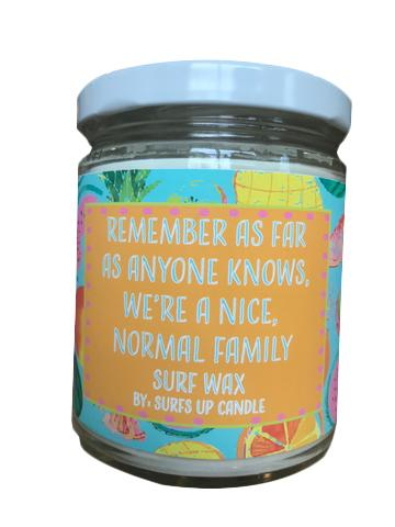 Normal Family Surf Wit Jar Candle- Surf Wax