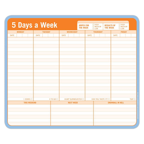 5 Days a Week Paper Mousepad