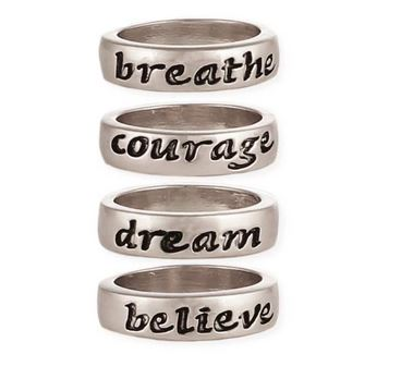 Silver Inspiration Word Ring