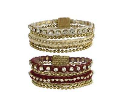 Gold & Thread Crystal Magnetic Bracelet