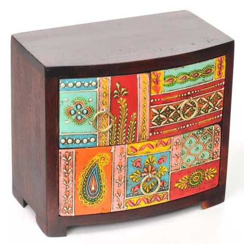 "Hand Painted Wood Drawers 7""x6.25"""