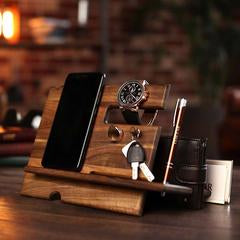 Men's Wooden Desk Organizer