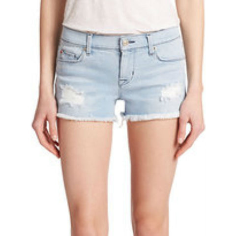 Light Wash Denim Folded Shorts - Anonymous L.A.