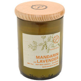Mandarin & Lavender Eco Green Candle - Anonymous L.A.