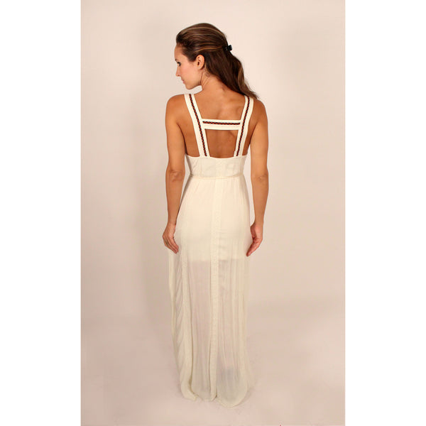 Lace Trim & Embroidered Maxi Dress - Anonymous L.A. - 2
