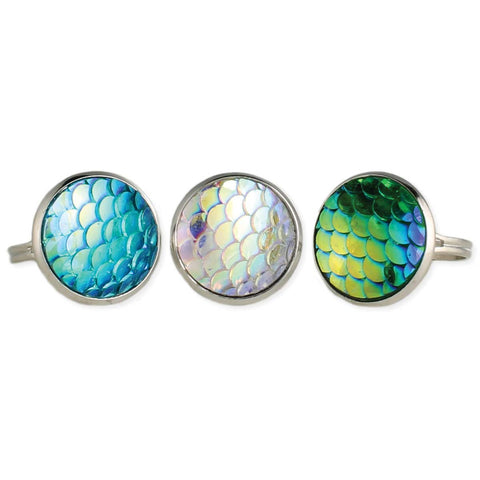Under the Sea Mermaid Scales Silver Ring