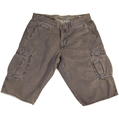 Midnight Blue Corduroy Cargo Shorts - Anonymous L.A.