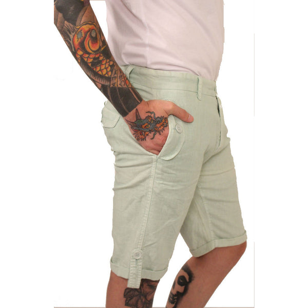 Division E Mint Linen Shorts - Anonymous L.A. - 3