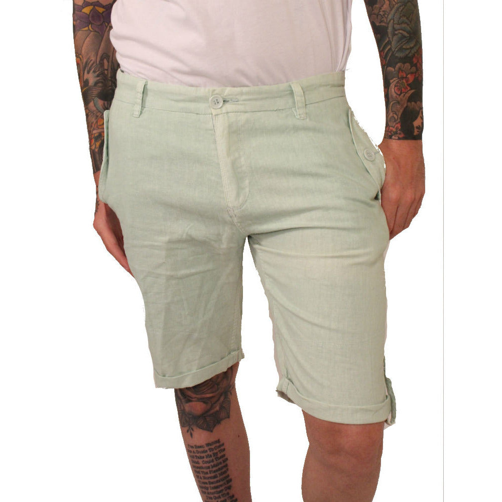 Division E Mint Linen Shorts - Anonymous L.A. - 1