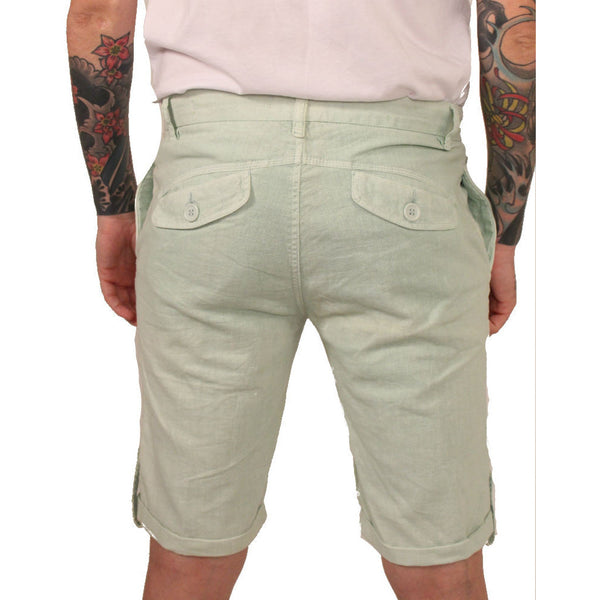 Division E Mint Linen Shorts - Anonymous L.A. - 2