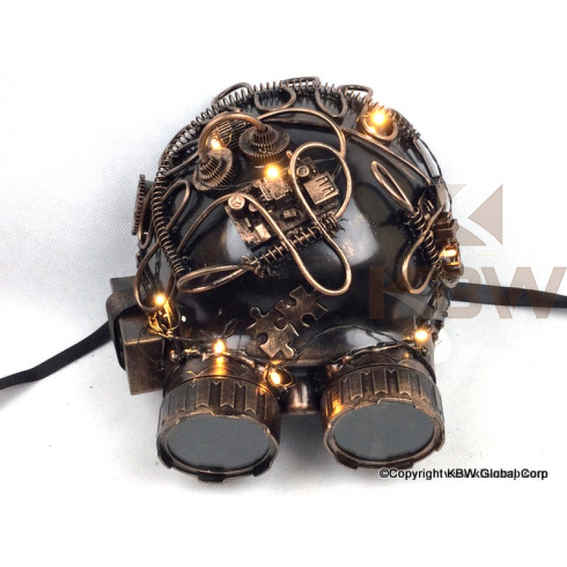 Steampunk Helmit With Goggles And Lights