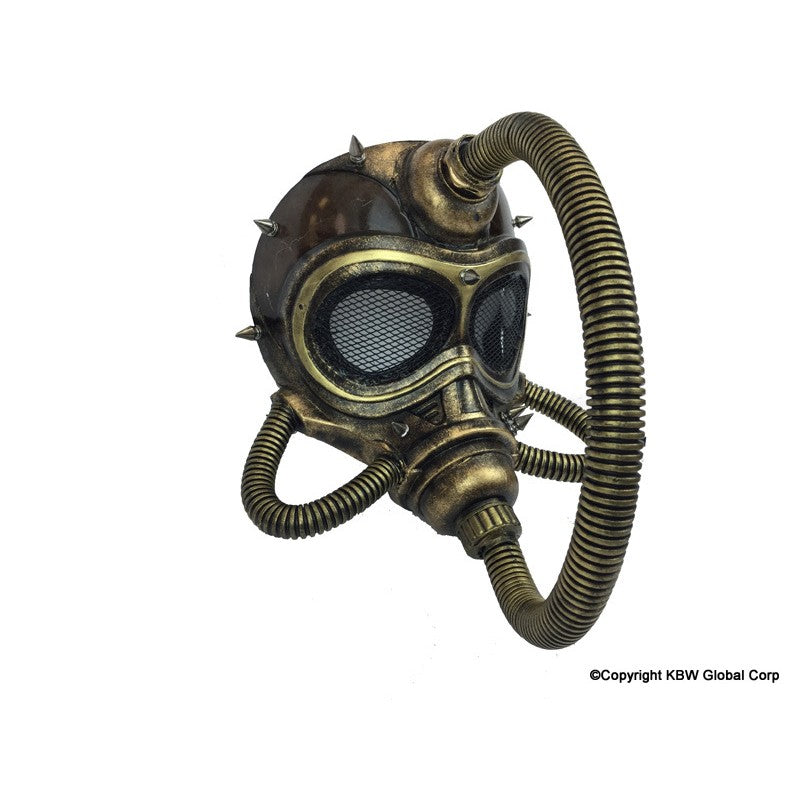 Brown Steampunk Submarine Full Faced Mask W/ Gasmask