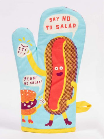 Say No To Salad. Yeah! No Salad! Oven Mitt