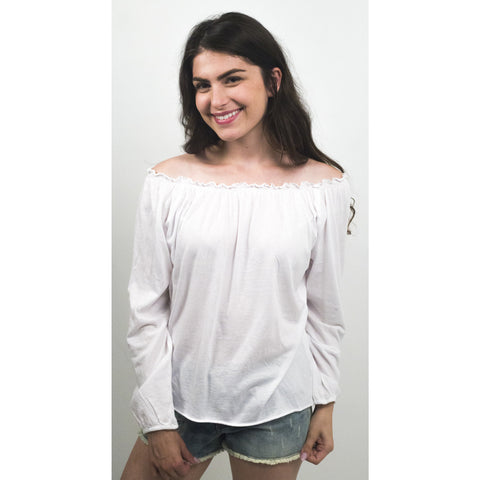 Off the Shoulder Peasant Blouse - Anonymous L.A. - 1