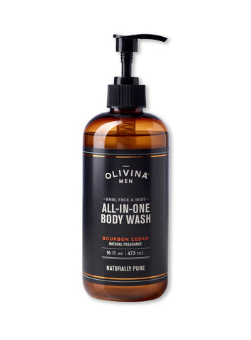 All-in-One Body Wash 16 oz - Bourbon Cedar