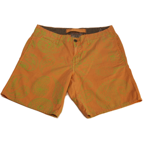 Orange and Green Paisley Shorts - Anonymous L.A.
