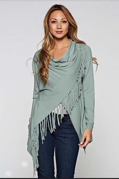 #1 Best Selling Fringe Shawl Sweater