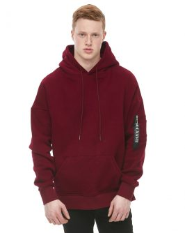 Streetwear Pop Over Peached Fleece Burgundy