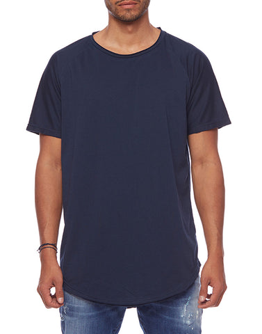 RAGLAN LONG TEE - NAVY