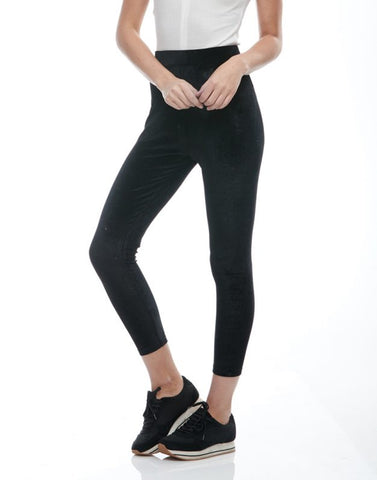 Black Velvet legging pant