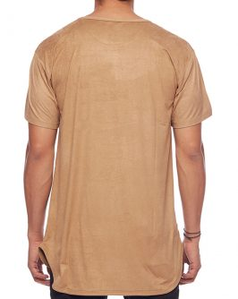 Suede L7 Long Tee – Sand