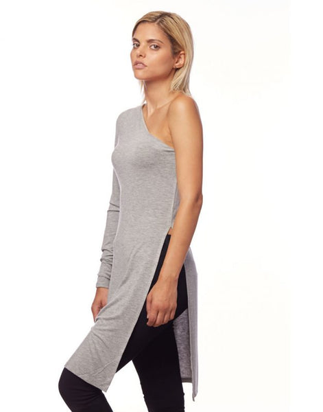 One Shoulder L/S Tunic W/Side slits