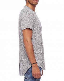 HACCI SLIT LONG TEE - S/S