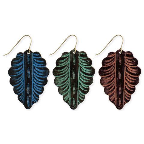 Color Patina Leaf Earring - Anonymous L.A.