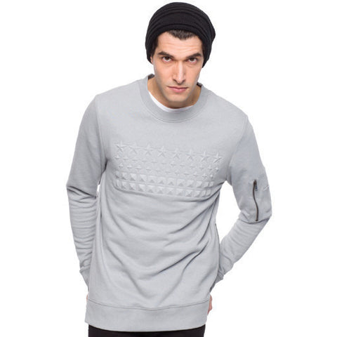 Pax - 6067 - Men's French Terry Embossed Crew Neck Sweatshirt - Anonymous L.A. - 1