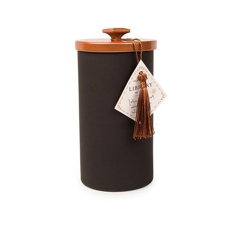 Library 16oz Black Glass W/Copper Lid - John Steinbeck