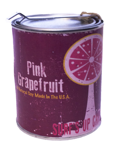 Pink Grapefruit Paint Can Candle